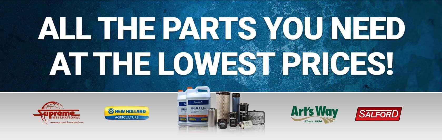 All the parts you need at the prices you want here at Intermountain New Holland!